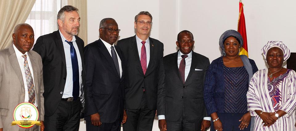 Des diplomates reçus en audience par le premier ministre, Kassory Fofana