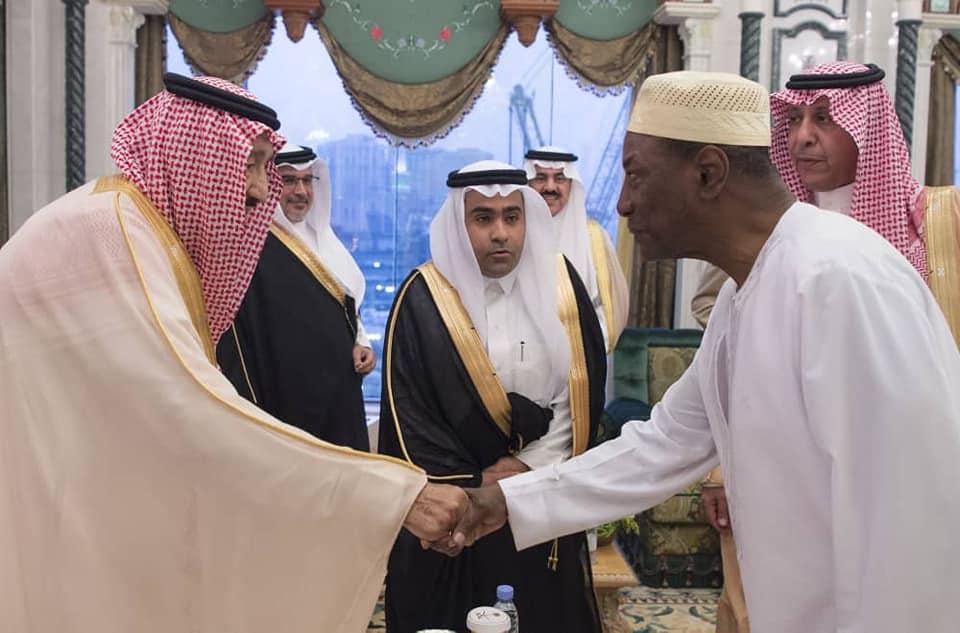Alpha Condé chez le roi de l'Arabie Saoudite ( photos )