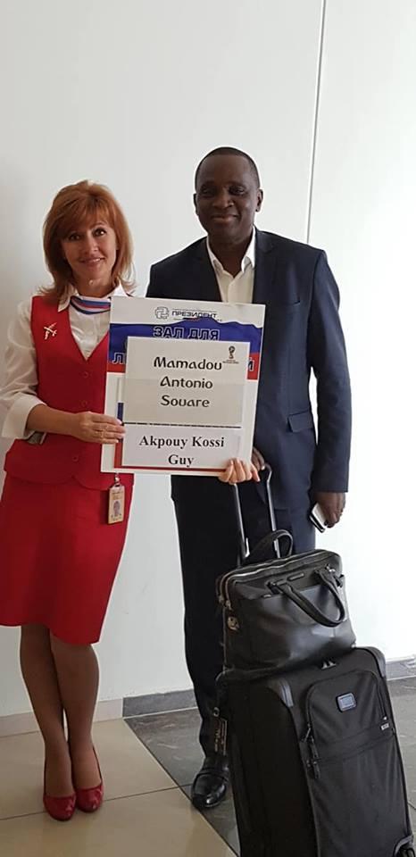 Le président Antonio Souaré, invité de marque de la FIFA au Mondial russe