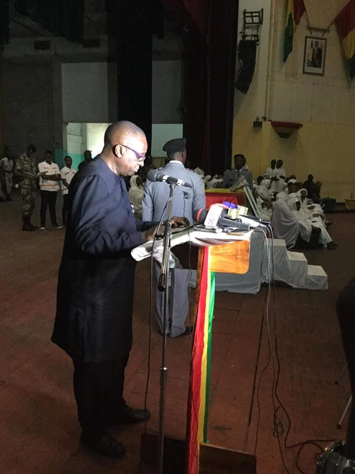 Hommage du président de la Feguifoot, Antonio Souaré, à feu Bruno Bangoura