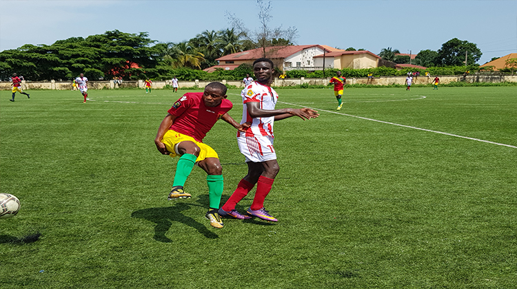 Football: le Syli U17 fait match nul contre le Horoya AC réserves