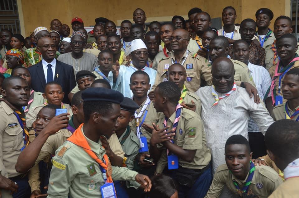 Sidya Touré, président d'honneur de l'Association Nationale des Scouts de Guinée