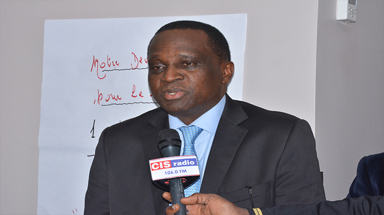 Cérémonie d'installation du directeur technique national adjoint: discours du président de la Feguifoot, Mamadou Antonio Souaré