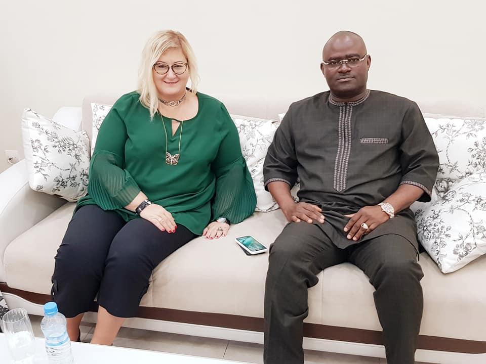 L'ambassadrice de la Turquie en Guinée chez le patron de Guicopres, KPC