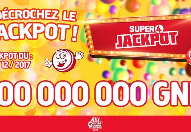 810 millions 584 milles de francs guinéens! C'est le nouveau montant incroyable remporté par l'un des parieurs du Super 4 Jackpot de Guinée Games