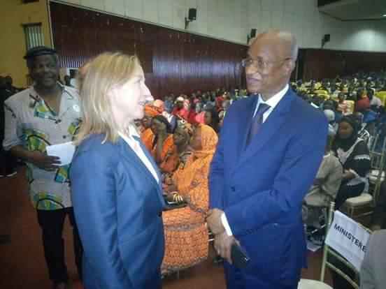 Le président de l'UFDG, Cellou Dalein Diallo, au lancement du livre intitulé