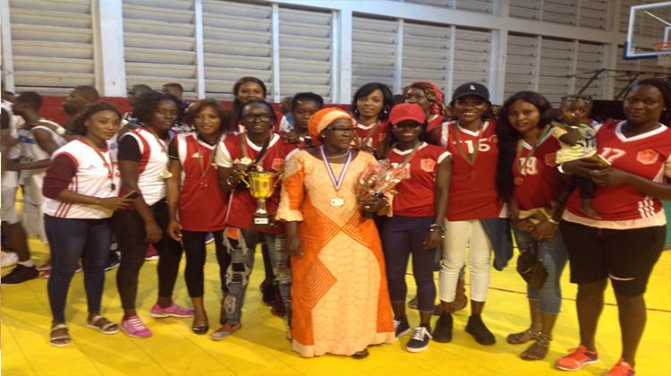 Fanta Bérété du Horoya AC, meilleure basketteuse de Guinée