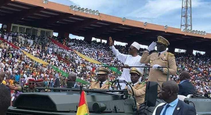 Le président Alpha Condé a célébré la fête de l'indépendance avec les Forces de Défense et de Sécurité